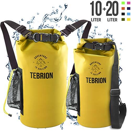 TEBRION 10L / 10L + 20L Premium Waterproof Dry Bag - Roll...