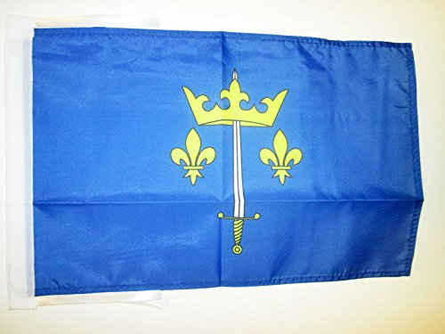 AZ FLAG Bandera de Juana DE Arco 45x30cm - BANDERINA DE Jeanne D'ARC - Francia 30 x 45 cm cordeles