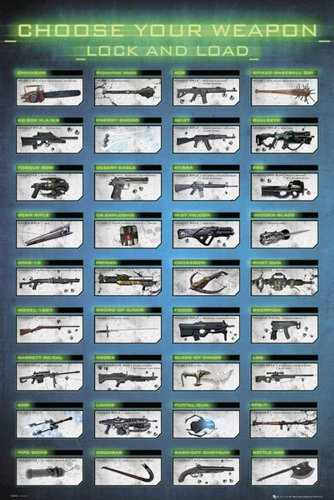 Empire 535214 Gaming - Choose Your Weapon - Waffen - Games Maxi-Poster - Grösse 61 x 91.5 cm