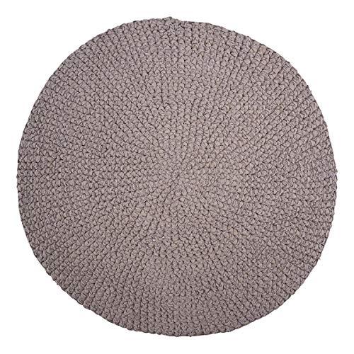 House Doctor Tapis au Crochet Gris Diamètre 80 cm Taille Unique