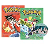 Buchspielbox Pokémon Manga - Juego de cartas de las primeras aventuras: banda 1 + banda 2 con pegatinas de manga
