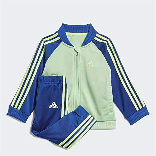 adidas I 3S TS Tric, Tuta Unisex Bimbi, Glory Mint/Team Royal Blue/Signal Green, 0-3M
