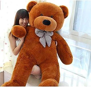 DAYONG 160CM Giant Huge Cuddly Stuffed Animal Plush Teddy Bear for Kids (Dark Brown)