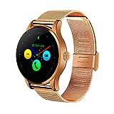 Heomeyb K88H Bluetooth Smart Watch MTK2502 Sprachsteuerung Smartwatch Die wasserdichte Smart Clock Mit Leistungsstarkem Batterie-Schrittzähler,D