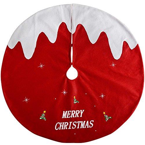 WeRChristmas–Árbol de Navidad Pudding Falda decoración, Tela, Multicolor, 102cm, Grande