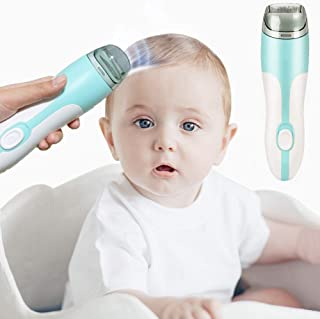 Baby Hair Clippers, Cordless Silent Kids Hair Trimmers, Electric Waterproof Kids Hair Clippers with 2 Guide Combs, USB Rec...