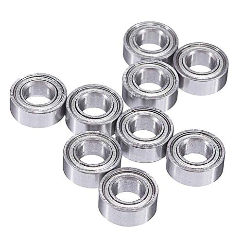 ZGQA-GQA 3D Printer Parts 10 Pcs 10x5x4mm Mini Ball Bearing for 3D Printer