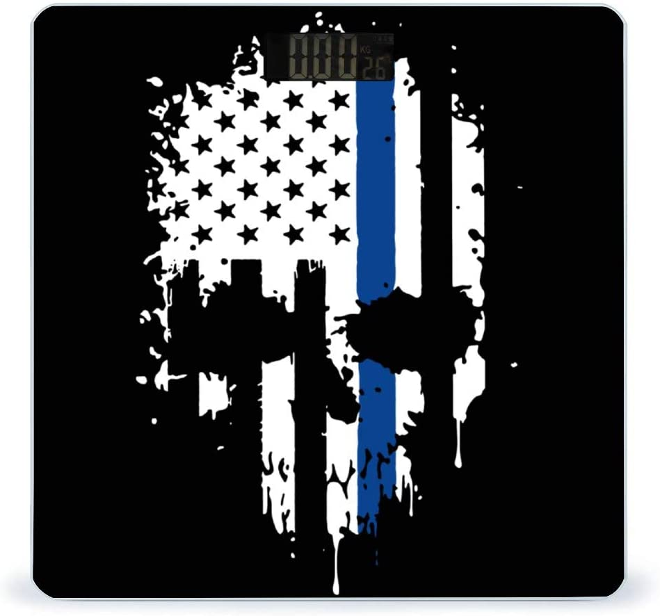 CHUFZSD Skull Thin Blue Line Highly Accurate Fitness Large discharge sale Smart Baltimore Mall Flag