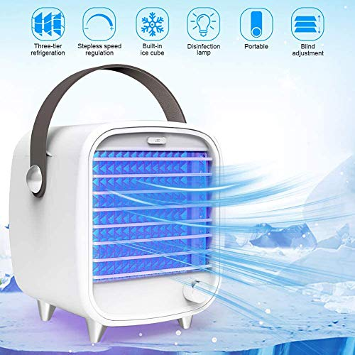 JINGMAI Draagbare Airconditioning, Airco UV Lamp, Draagbare Germicide Sterilisatie Lamp Automatische UV Licht Airco Sterilizer voor Hotel Travel