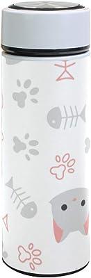 水筒 Dog_And_Cat_Pattern-16 [转换] 真空断熱 500 ml ステンレスボトル 保冷保温 軽量 直飲み コップ 便利 大人用 学生用 通勤 通学 学生 旅行 プレゼント 手軽