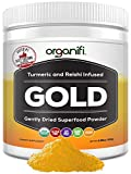 Organifi: Gold - Superfood Supplement Powder- 30 Day Supply - Deep Sleep, Immunity and Cognitive Function Support - Turmeric and Reishi Infused