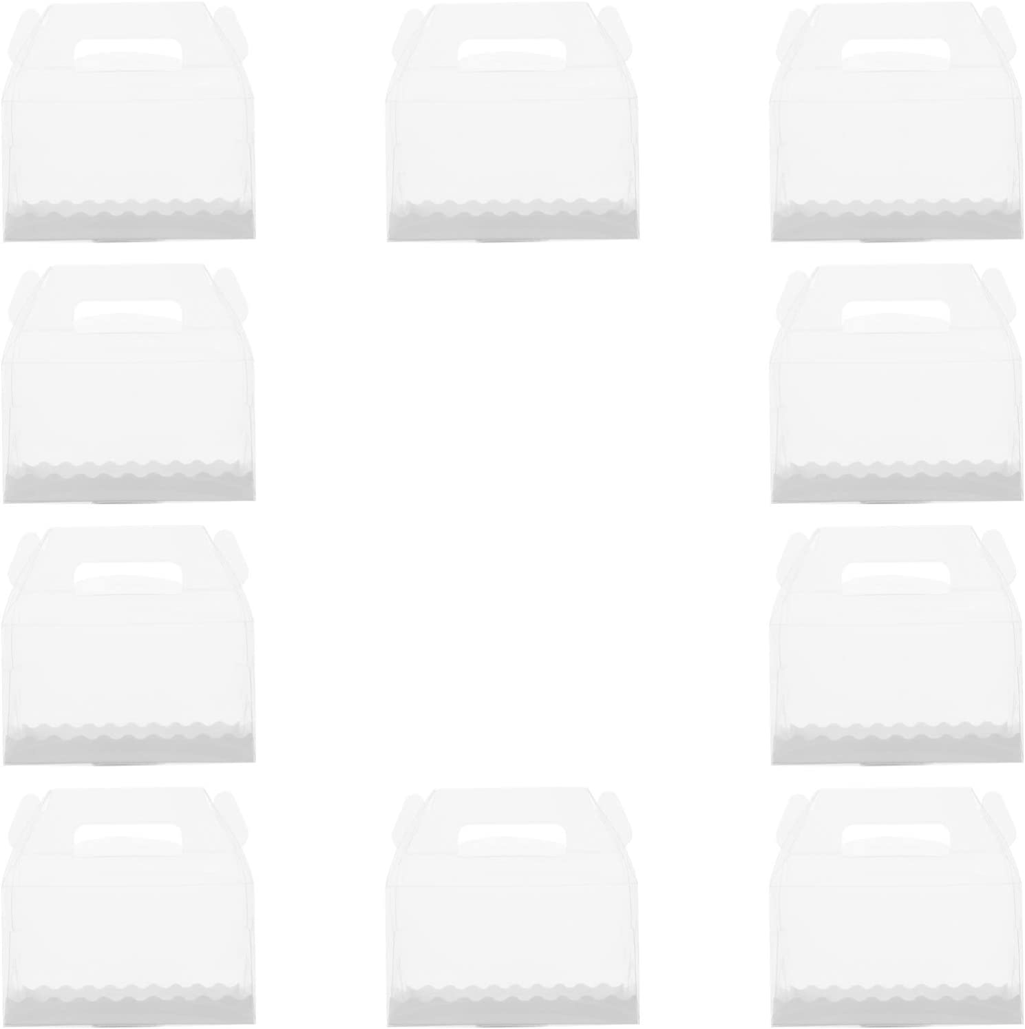 GARNECK 10pcs Clear Cake Box Containers Cheap mail Max 59% OFF order shopping Plastic Cupcake Carrier