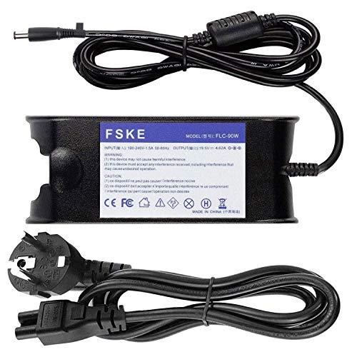 FSKE 90W 19.5V 4.62A Cargador del Ordenador Portátil para DELL LA65NS0-00 PA-12 Power Supply, XPS 13 Inspiron 15 13 17 Latitude E5440 E7240 Notebook EUR Adaptador,7.4 * 5.0mm