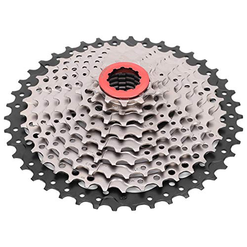 VGEBY Bicycle Cassette Sprocket, 9 Speed 11‑42T Hollowout Durable Bicycle Flywheel Card Type Cassette Sprocket Bike Replacement Accessory