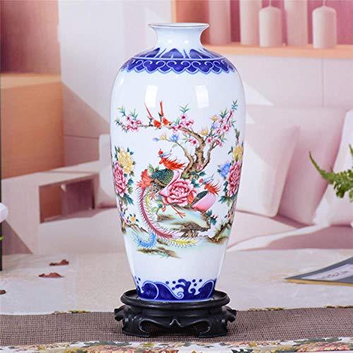 WULIAN Vase Kunsthandwerk Blau und Pheonix Blume Alte Figur Geschichte Muster Handgemacht Jingdezhen H