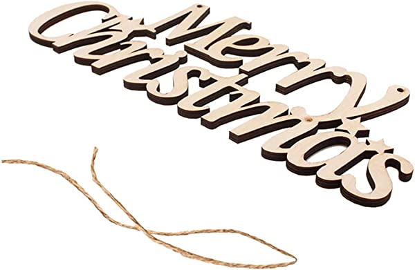 Hatop Christmas Hanging Signs Wooden Decoration Words Letters Signs Merry Christmas Wood Decor Sign Door Wall Hanging Decorations Christmas Tree Hanging Ornaments