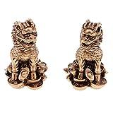 . Il peut être placé table, bookrack ou les deux côtés de la porte. . L'artisanat chinois de lions de Pékin, matériau de résine respectueux de l'environnement, résistant à l'usure, modèle clair et lisse. . C'est le symbole du pouvoir, signifie la ric...