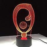 Bola de yoga 3D multicolor LED luz nocturna LED acrílico USB sueño decoración luz regalo