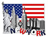 America New York Metal Fridge Magnet Unique Design Home Kitchen Decorative Travel Holiday Souvenir Gift, Stick Up Your Lists, Photos on Your Refrigerator