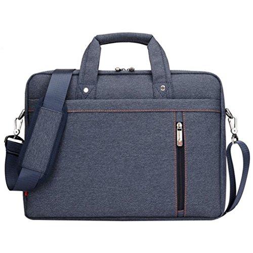 LOSORN ZPY 13-17 Zoll Laptop Tasche mit Schultergurt Aktentasche für Laptop/Notebook Computer/MacBook, Blau, 15 Zoll