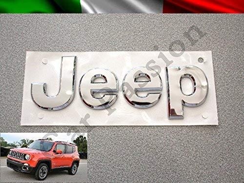 Scritta Stemma Logo Jeep Renegade Cherokee Grand Cherokee Compass Anteriore Originale Cromato Lucido Front Badge Emblem
