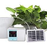 Sistema De Riego Automático Inteligente Temporizador De Riego Accionado Solar Controlador Digital De Riego Lazy Para Invernaderos, Plantas De Jardinería, Césped,Single Pump 15 Sets 10M Tube