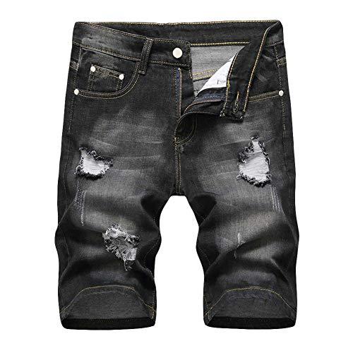 Allthemen Męskie spodenki dżinsowe na lato krótkie spodnie