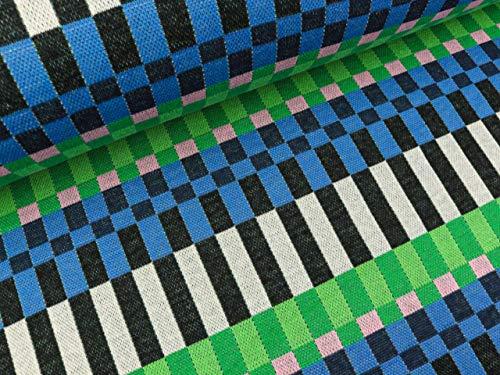 Albstoffe Hamburger Liefde 7 kleuren jacquardjersey plain snoepjes camille zwart-bont