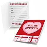 Big Dot of Happiness Conversation Hearts - Fill In Valentine's Day Party Invitations (8 count)