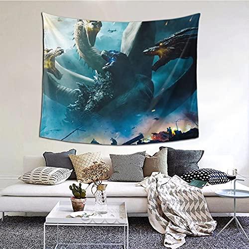 Go-d-z-il-la - Tapiz de película para decoración de pared, manta para sala de estar, dormitorio, dormitorio, dormitorio 156,4 x 150 cm