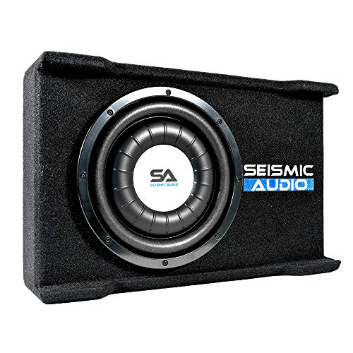 Seismic Audio - SA-SSCS10 - Shallow Mount 10 Inch 500 Watt Car Truck Audio Subwoofer Enclosure for Tight Spaces
