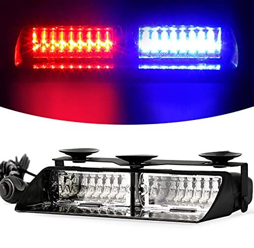 Luces de techo interior de camión de succión, 16 luces de parabrisas de alta intensidad LED para vehículos