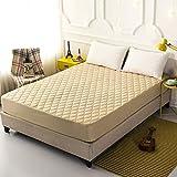 Topashe Atmungsaktiv Bettlaken,Gepolstertes Baumwolltuch, Wickelauflage-Camel_120 * 200cm,Spannbettuch