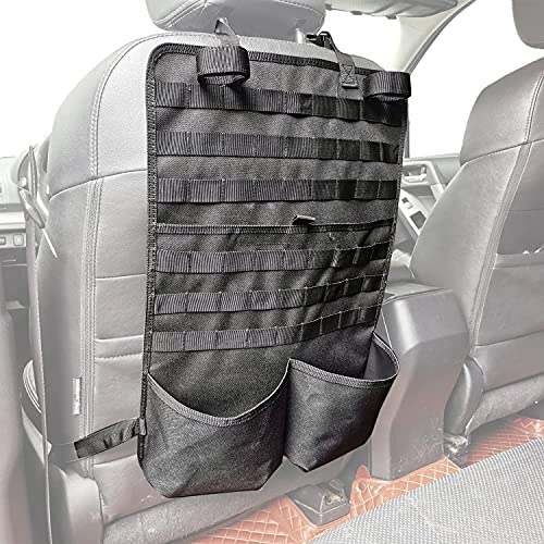 Yawayda Seat Back Organizer with Gun Rack Feature Tactical Seat Behind Gun Holder Molle Panel Cover Car Seat Storage Universal Fit Vehicles SUV Truck MPV Pickup