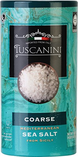 Tuscanini, Coarse Mediterranean Sea Salt, 16oz Tube, From Sicily Italy