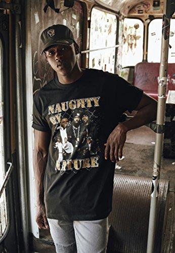Mister Tee Naughty by Nature 90s tee Camiseta, Negro, S para Hombre