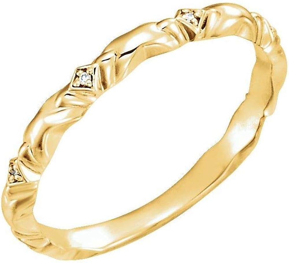.02 Cttw Diamond Wedding Band Anniversary Ring (Width = 3.1mm)