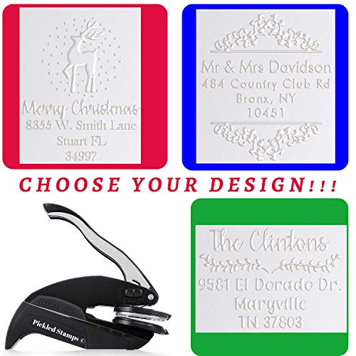 Address Embosser Seal Stamp Personalized Customized Monogram Wedding Invitiations 1 x 5//8 Design 5