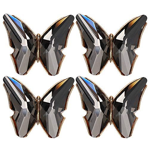4pcs Rhinestone Shoe Clips Butterflies Crystal Shoe Clip Shoe Decorations Clips Accessories for Wedding Dress, Shoes, Clothing