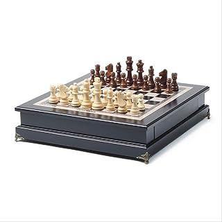 Luckyw Träschackset västerländsk speltävling dedikerad skrivbordsdekoration för hemmet