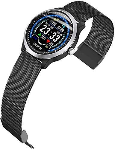 ZHENAO Smart Watch, Bluetooth Smart Watches Fitness Tracker Reloj con Ritmo Cardíaco Seguimiento de Sueño Paso Calorie Counter Activity Tracker Mensaje-Amarillo Desgaste diario/Ne
