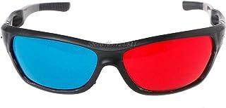 映画ゲームDVDビデオTVエレクトロニクス在庫のための普遍的な白いフレーム赤青アナグリフ3Dメガネ