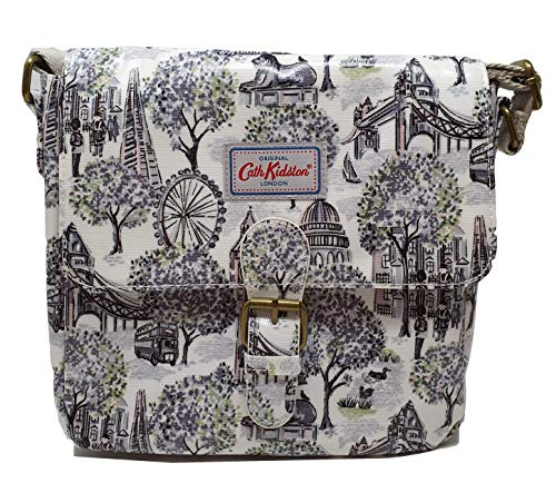 Cath Kidston London Toile Mini Satchel Cross body Shoulder bag in Mono Oilcloth