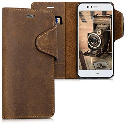 kalibri Hülle kompatibel mit Huawei Nova 2 - Leder Handyhülle Handy Hülle Cover - Schutzhülle in Braun