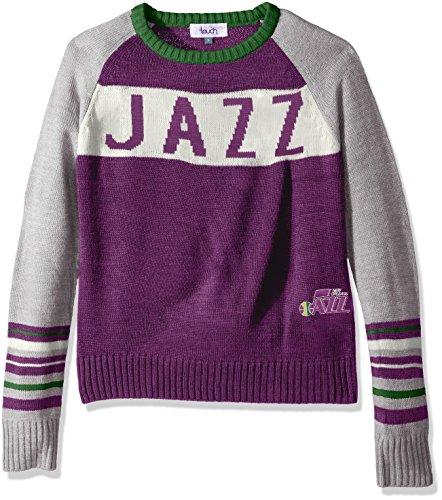 Touch by Alyssa Milano NBA Team Spirit Pullover, Damen, Hardwood Classic Team Spirit Sweater, violett, Large