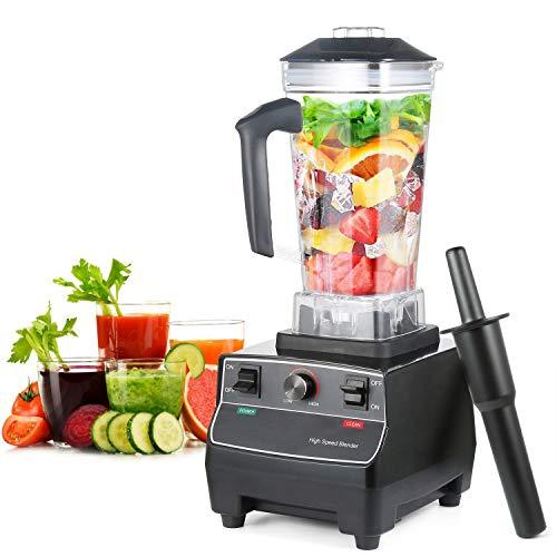 Aanrechtblender met 1650 watt met roerstaaf, totale maaltechnologie voor sappen, shakes, smoothies en bevroren fruit, variabele snelheidsregeling