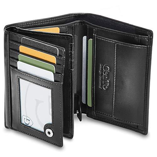 GenTo Dublin Große Geldbörse mit Münzfach - TÜV geprüfter RFID, NFC Schutz - geräumiges Portemonnaie - Geldbeutel für Herren und Damen - Portmonaise inkl. Geschenkbox