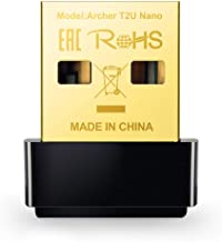 TP-LINK Archer T2U Nano Adaptador inalámbrico Nano USB de doble banda AC600 Mbps,  Doble Banda,  negro