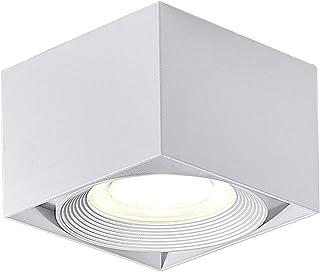 Dr.lazy 10W LED Focos para el techo,Lámpara de techo, Focos de techo,Lámpara de salón,Luz de techo led,Plafón con Focos, IP20, 10X10x7CM (Blanco-4000K)
