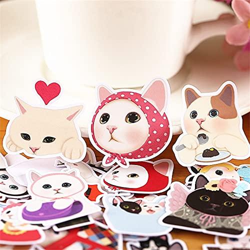WOCAO 36 unids gato madre diario cuaderno planificador pegatinas lindo juguete decorativo estilo etiqueta de scrapbooking para portátil niños